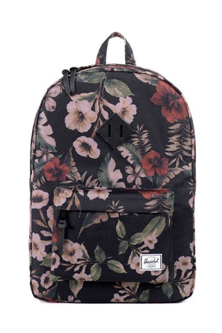 Heritage Leather Backpack Hawaiian Camo