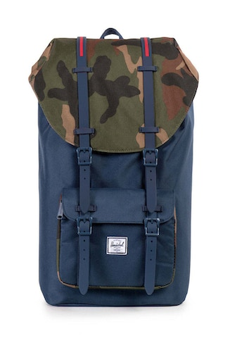 Little America Rubber Backpack Navy/camo/navy