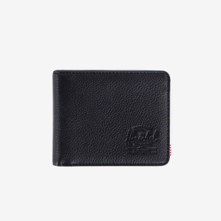 Hank Leather Wallet Black Pebble