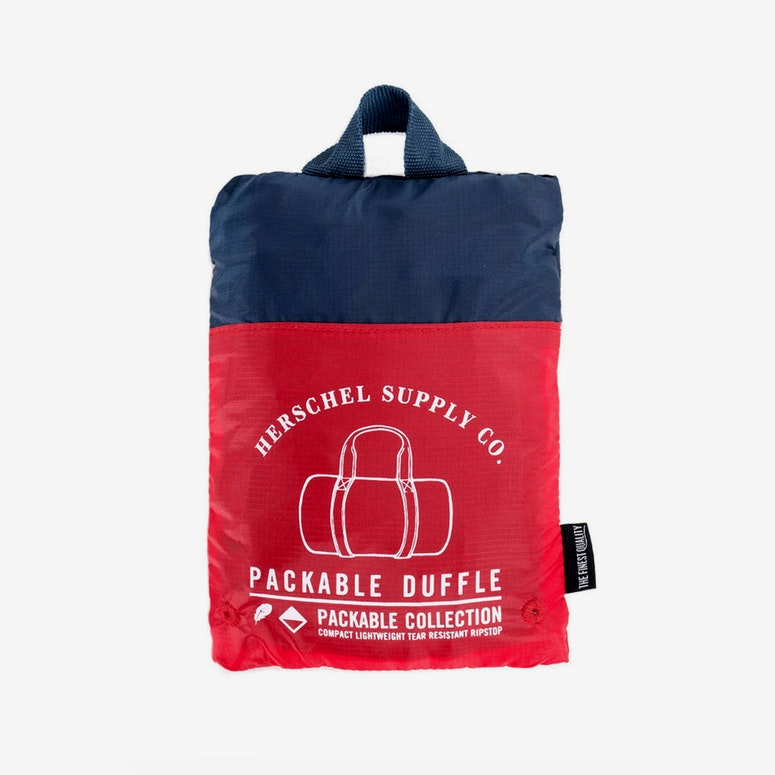 Packable Duffle Bag Red/navy