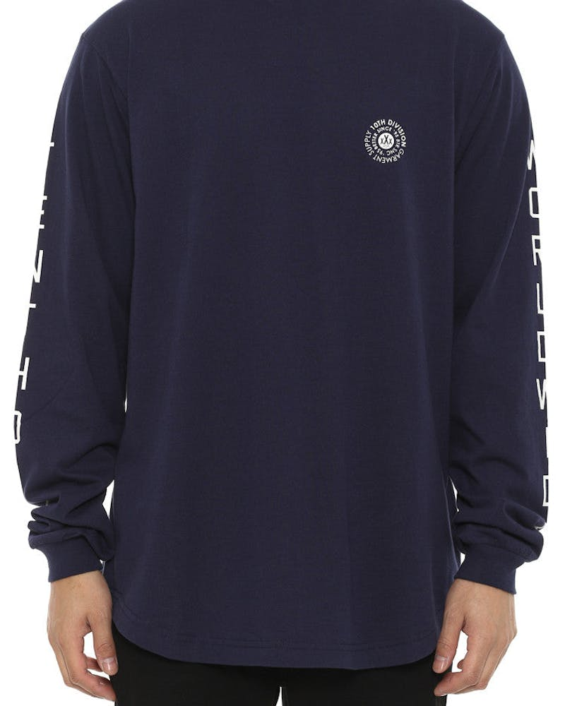 Stateless Long Sleeve Tee Navy