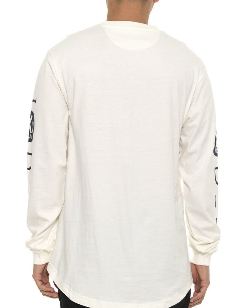 Triple X Long Sleeve Tee Off White