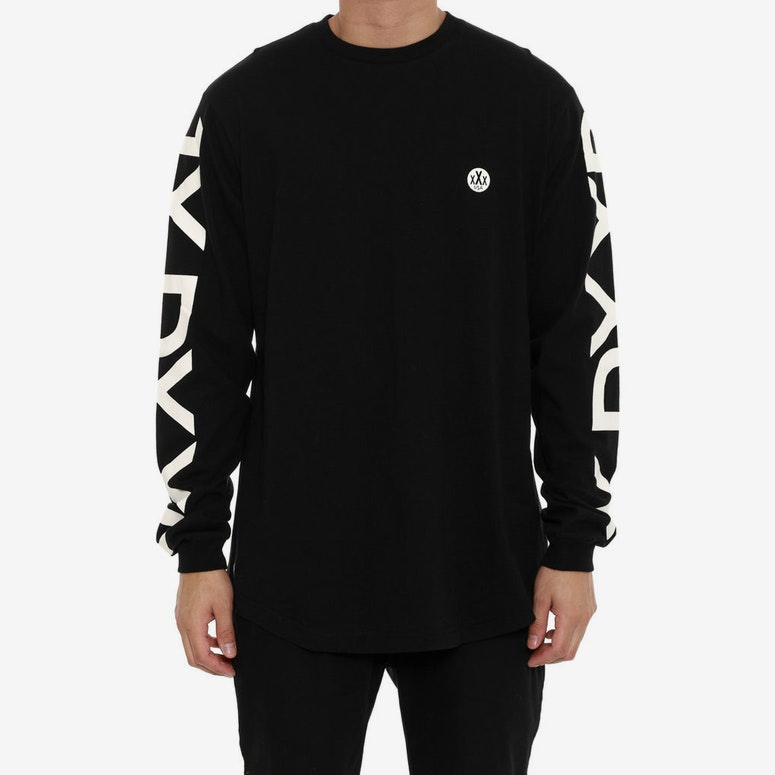 Ironside Scoop Long Sleeve Tee Black