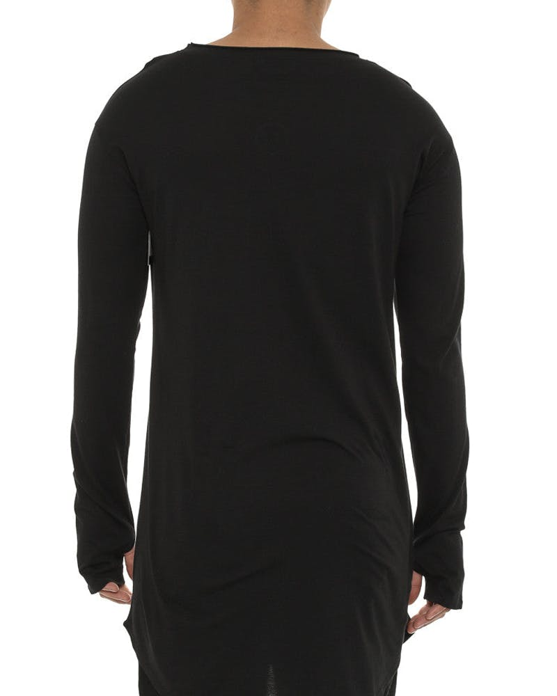 Cuff Long Sleeve Tee Black