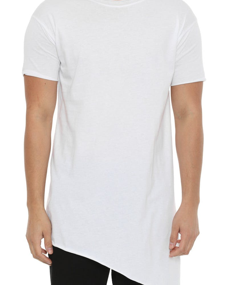 Assymetrical Tee White