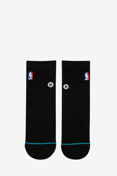 Stance NBA Logoman Quarter Sock Black