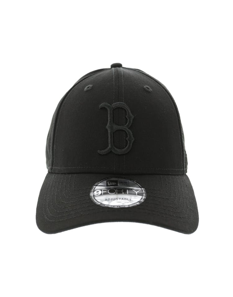 differently e8fe4 0fef8 New Era Red Sox 9FORTY Strapback Black Black – Culture Kings