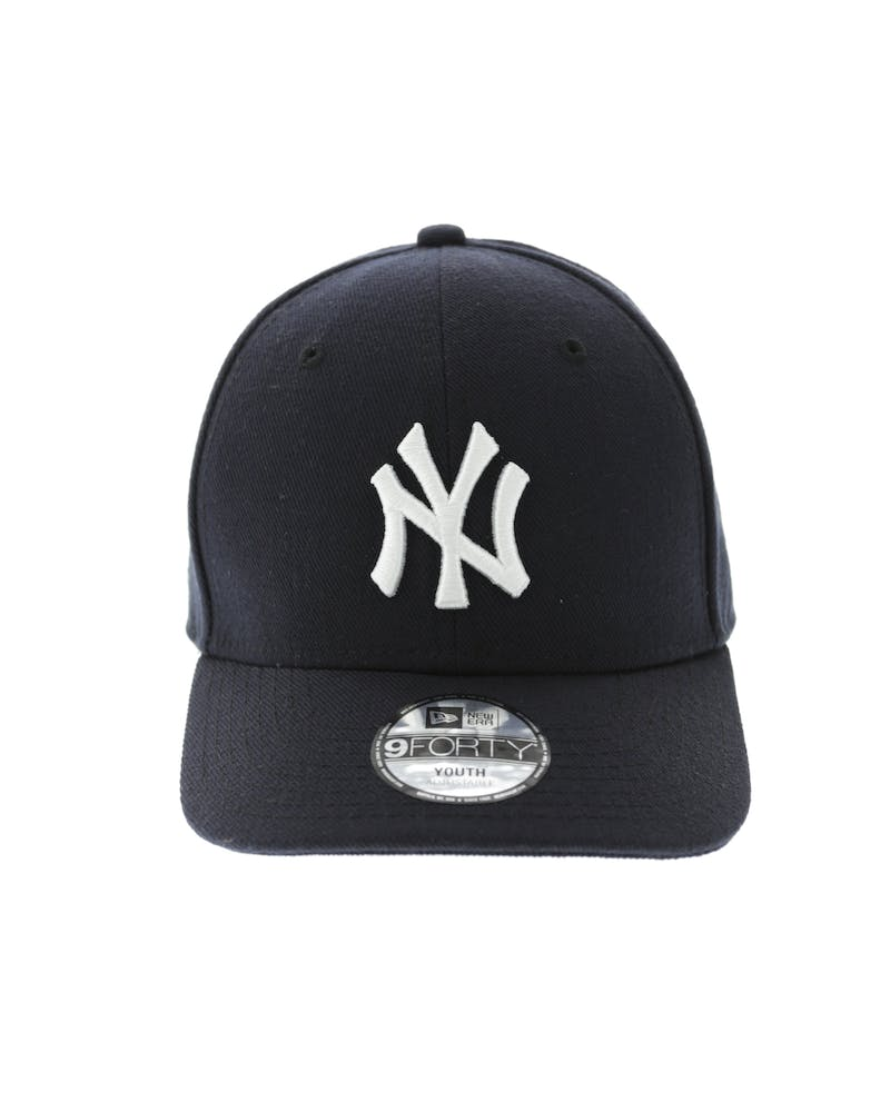 New Era Yankees Kids 9FORTY Precurve Navy/White