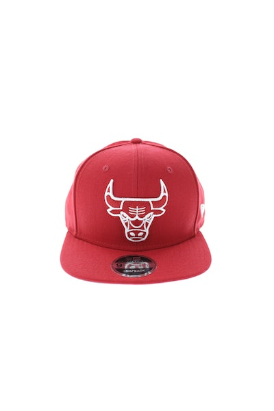 New Era Bulls League Original Fit Snapback Scarlet/white