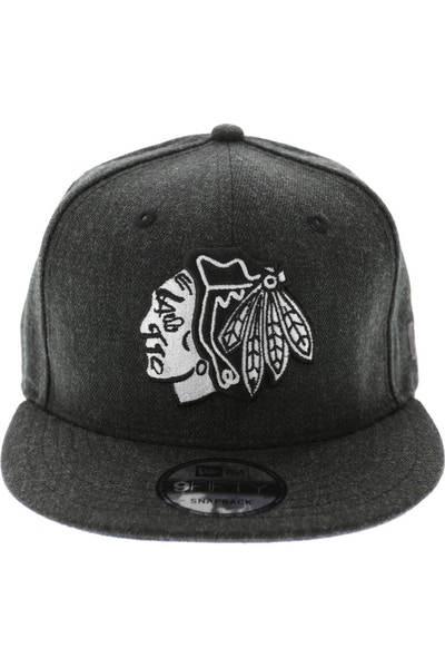 Blackhawks Heather Original Heather Black/g