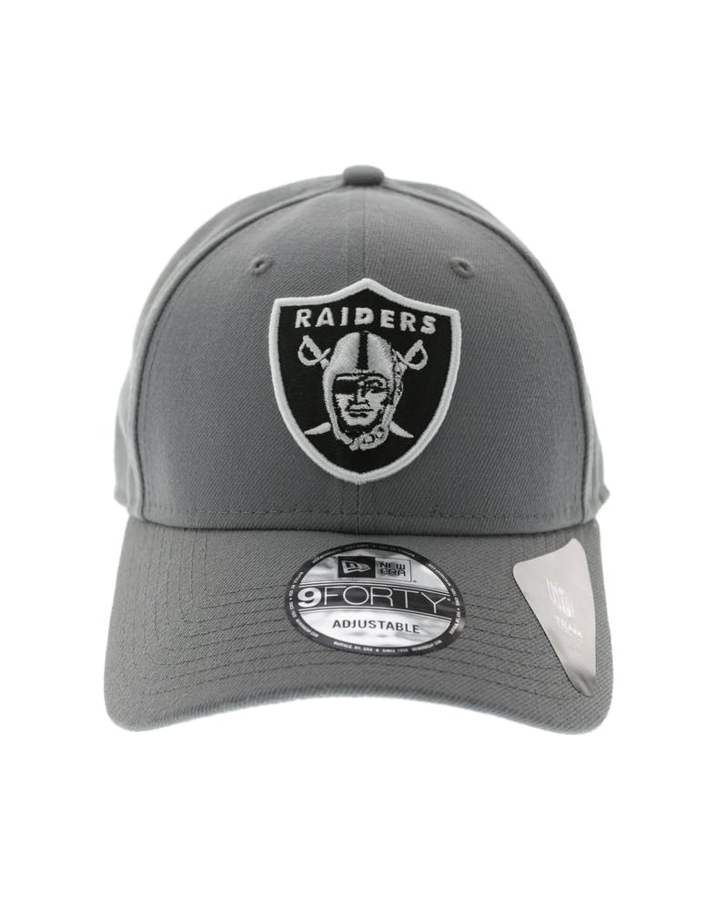 New Era Raiders Storm Velcroback Grey