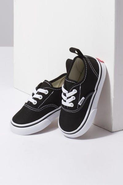 e2d0fb6a7e Vans Toddler Authentic (Elastic Lace) Black White
