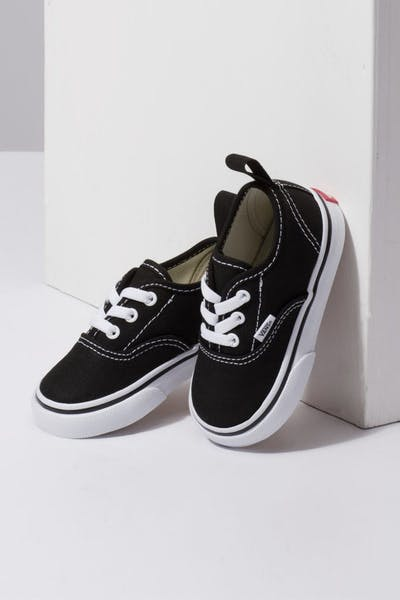Vans Toddler Authentic (Elastic Lace) Black White c91d5f605