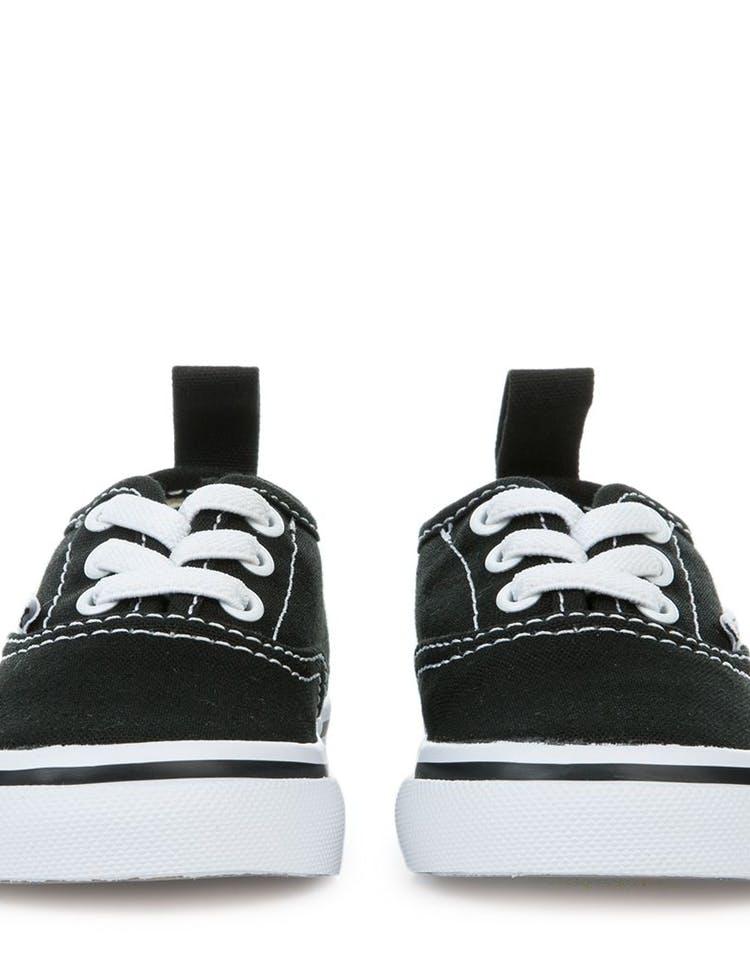 the best attitude 07f86 d75a3 Vans Toddler Authentic (Elastic Lace) Black White