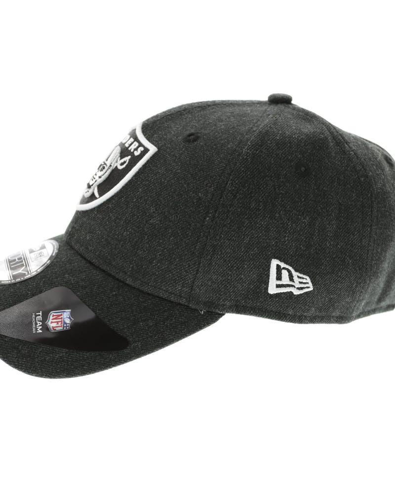 New Era Raiders Heather 9FORTY Strapback Heather Black