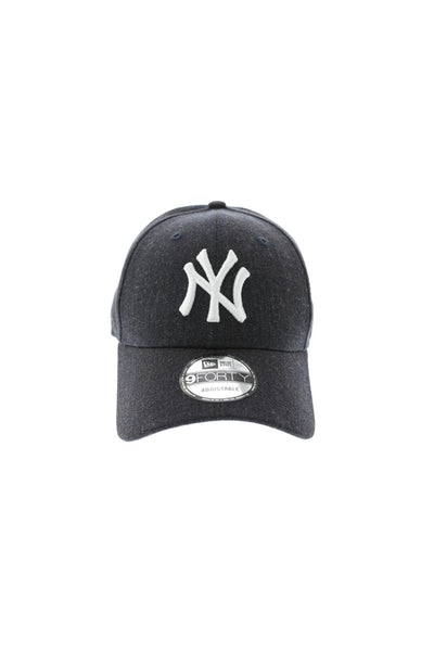 New Era Yankees Heather 940 Strapback Heather Navy
