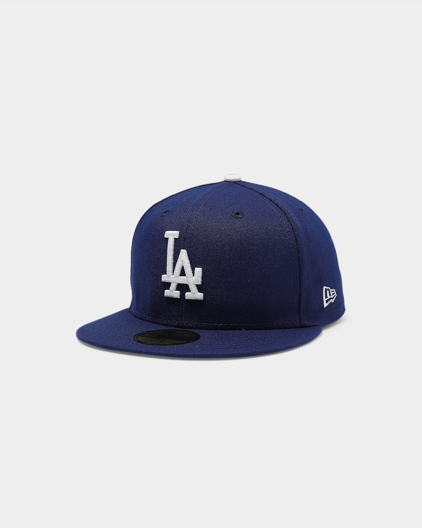 """New Era 59Fifty LA Dodgers Fitted Hat All Royal Blue//White /""""Dodgers/"""" Script"""