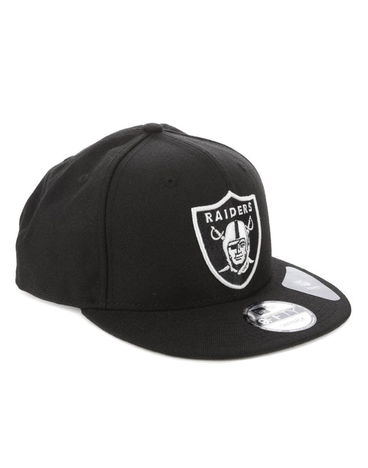 newest f12fd d4733 New Era Oakland Raiders 9FIFTY Snapback Black White