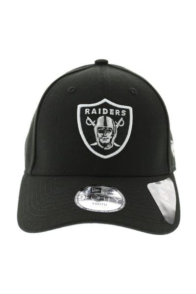 78ec5f6c9f1 New Era Raiders Kids 9FORTY Precurve Black Black