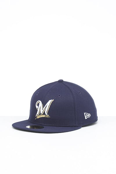 New Era Milwaukee Brewers 59FIFTY Fitted Navy/OTC