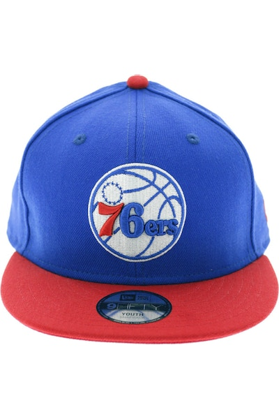 New Era Youth 76ers Snapback Royal/Red
