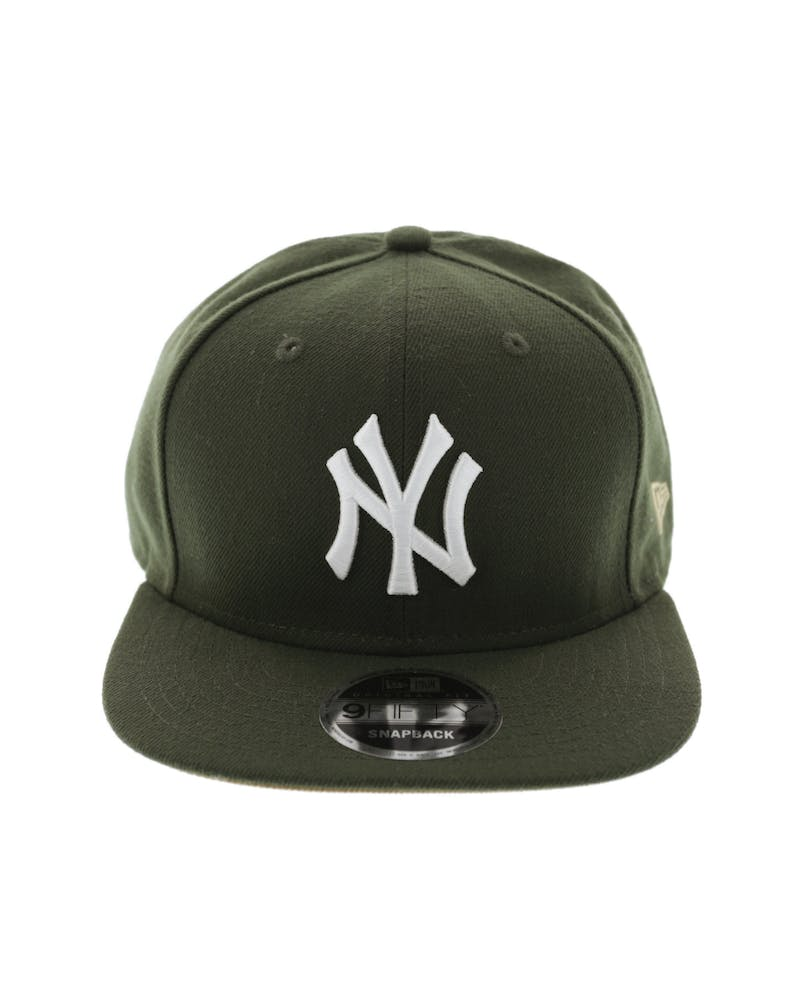 New Era Yankees Original Fit Snapback Olive/Tan