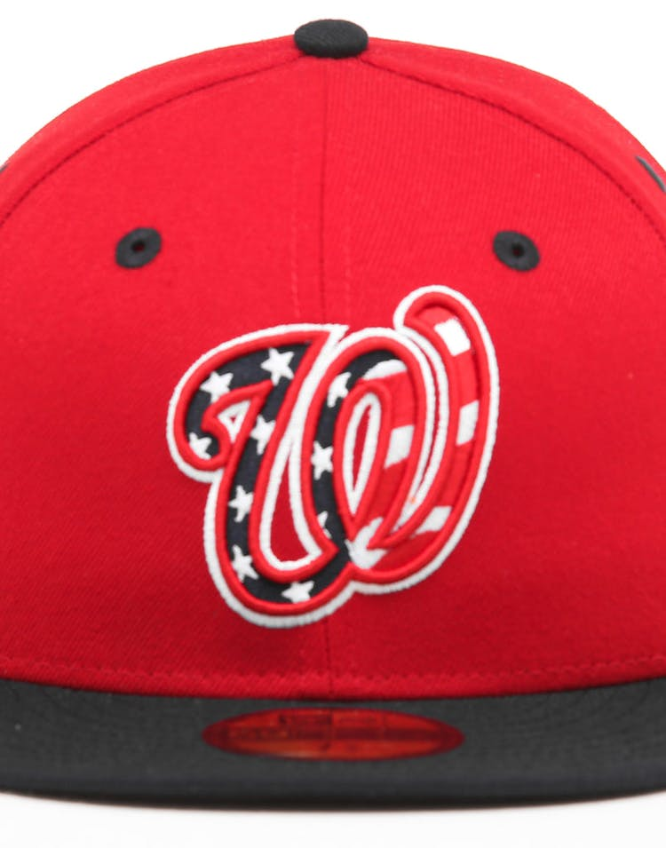 5d07b3b7 New Era Washington Nationals 59FIFTY ALT 3 Fitted Red/Black/OTC
