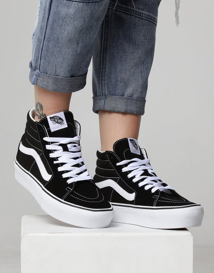 50d634a2bc Vans Women s SK8-HI Platform 2.0 Black White – Culture Kings
