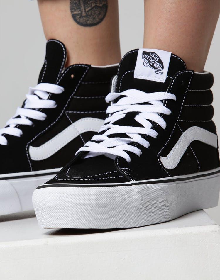 4a3a090f7d Vans Women s SK8-HI Platform 2.0 Black White – Culture Kings