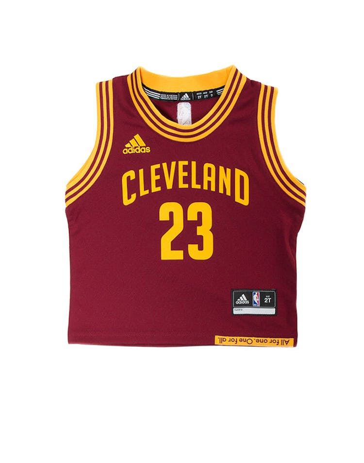 a2d6bc487 Adidas Toddler LeBron James Cleveland Cavaliers Jersey Burgundy – Culture  Kings