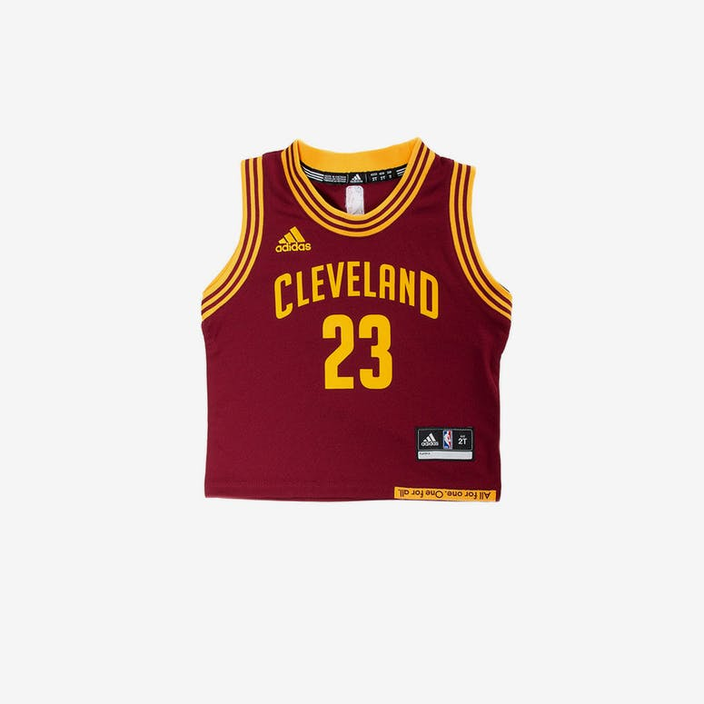 68661abee Adidas Toddler LeBron James Cleveland Cavaliers Jersey Burgundy ...
