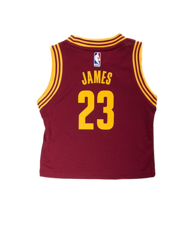 d039fd698ac Adidas Toddler LeBron James Cleveland Cavaliers Jersey Burgundy ...