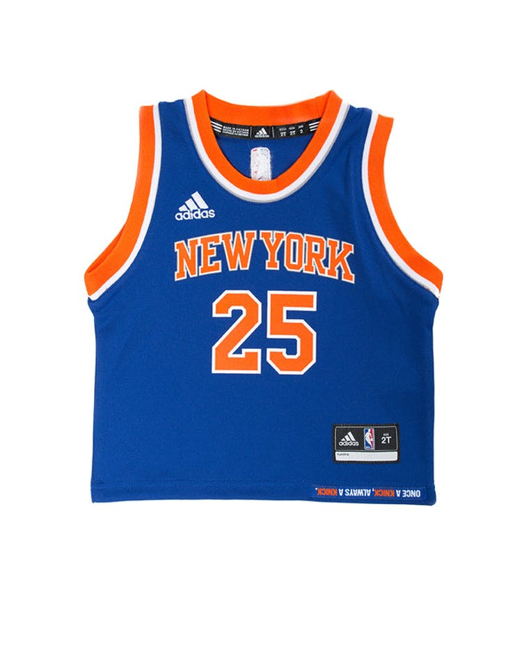 3ed244625632 Adidas Toddler Derrick Rose New York Knicks Jersey Blue – Culture Kings