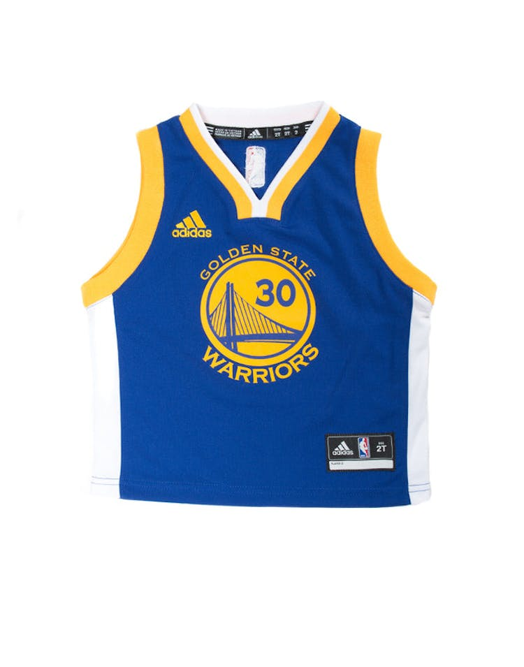3b62f19047cd Adidas Toddler Stephen Curry Golden State Warriors Jersey Blue – Culture  Kings