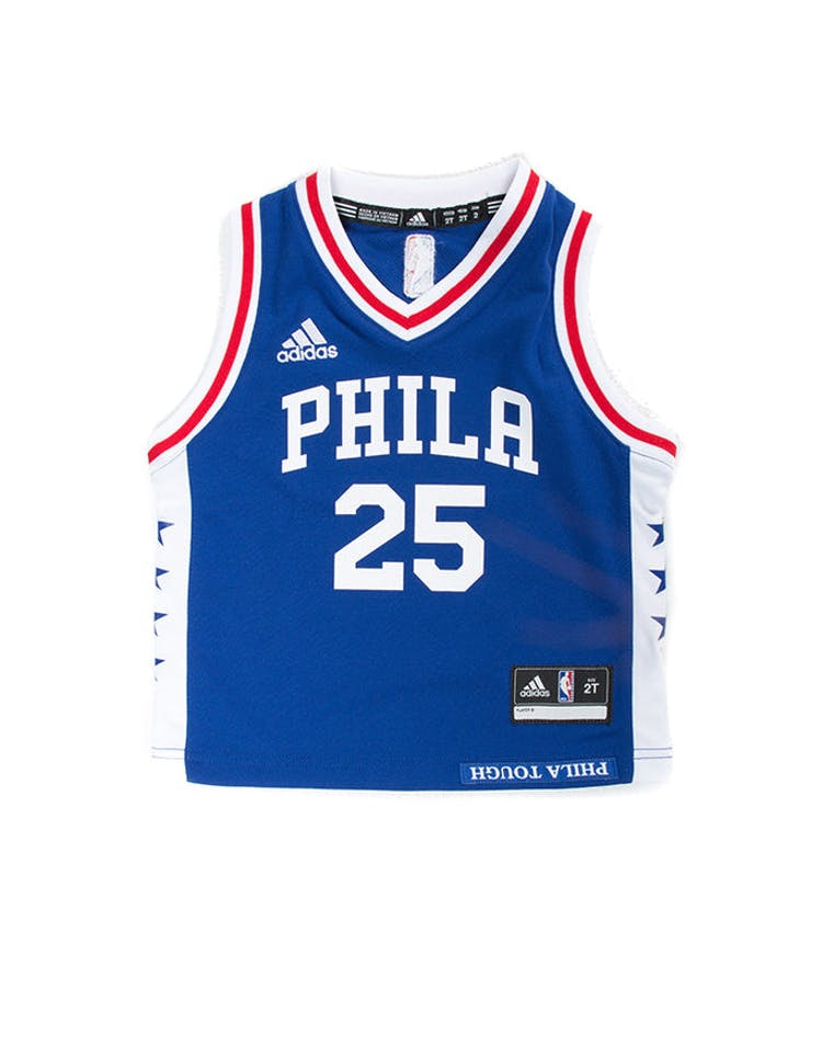 best sneakers dfdc5 19940 Adidas Toddler Ben Simmons Philadelphia 76ers Jersey Blue