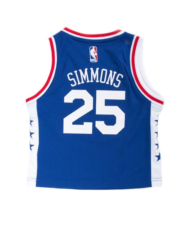 93c5a8fc16a Adidas Toddler Ben Simmons Philadelphia 76ers Jersey Blue – Culture ...