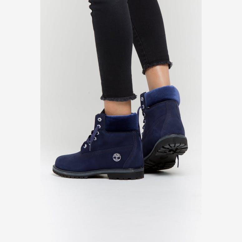 f1efa10d3e42 Timberland Women s 6 Inch Premium Boot Velvet Collar Dark Blue ...