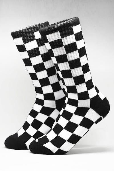Vans Checkerboard II Crew Black/White