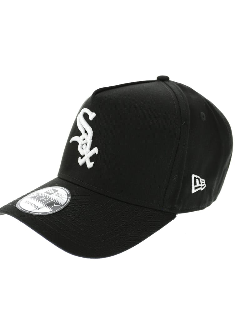New Era White Sox 9FORTY A-Frame Strapback Black/White