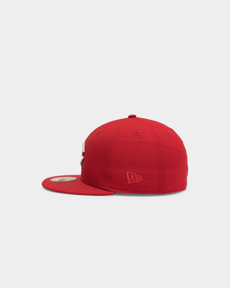 New Era Reds 59Fifty Grey Undervisor Fitted Red/Grey