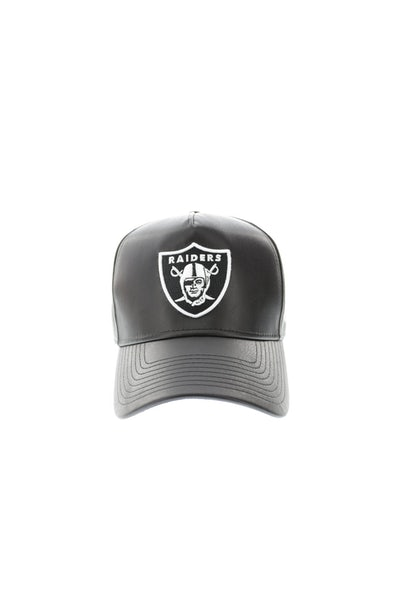 New Era Raiders 940 A-Frame PU Leather Snapback Black