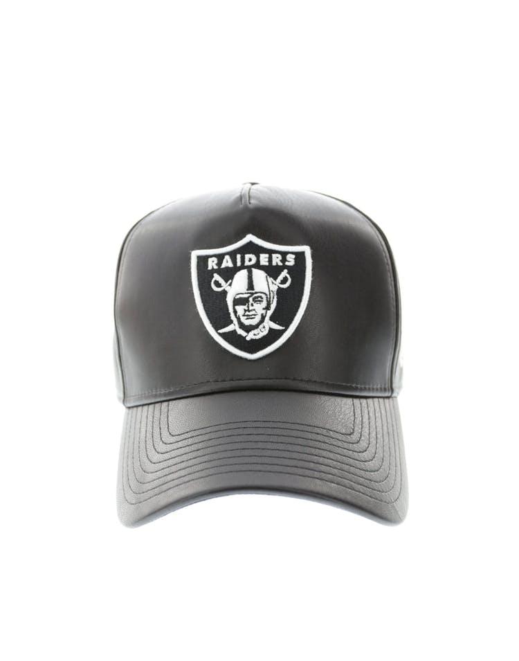 26a82899 New Era Raiders 9FORTY A-Frame PU Leather Snapback Black