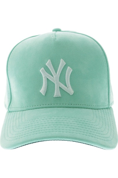 New Era Yankees 940 A-Frame Suede Snapback Mint