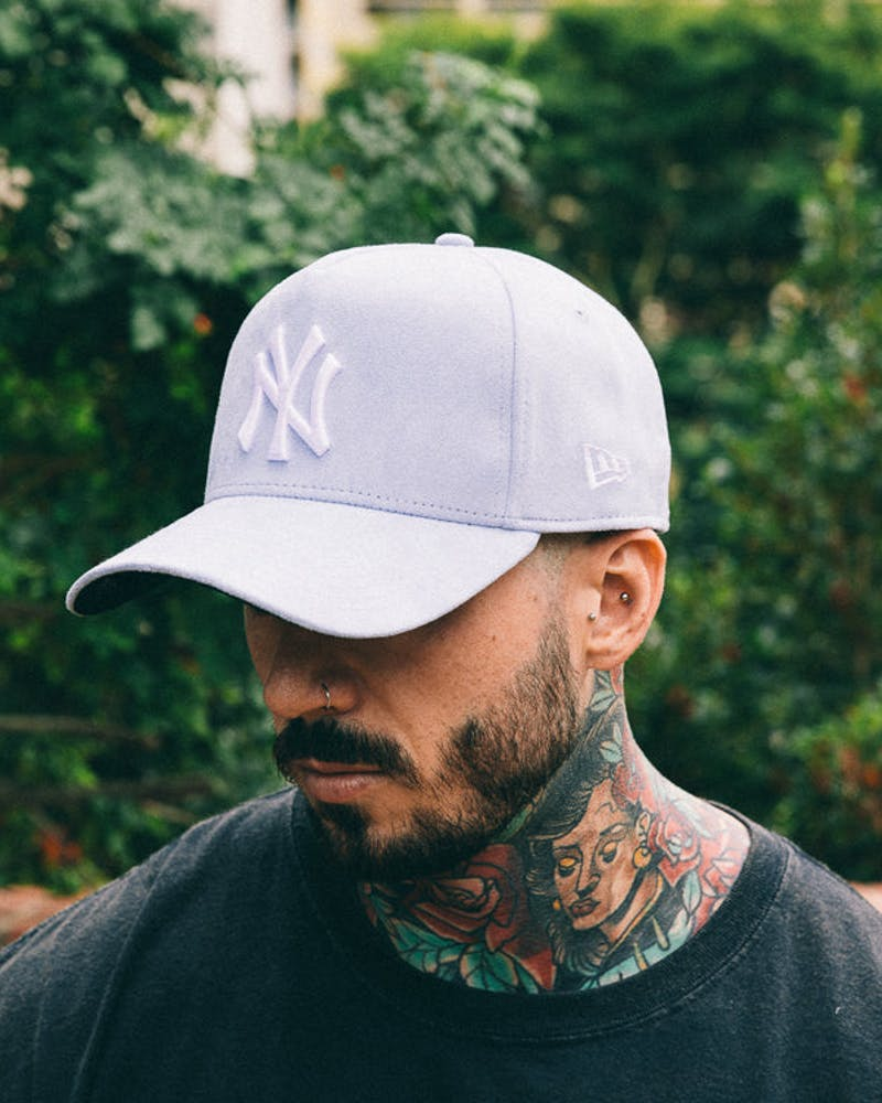 New Era Yankees 9FORTY A-Frame Suede Snapback Blue