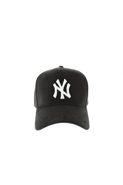 New Era Yankees 940 A-Frame Suede Snapback Black