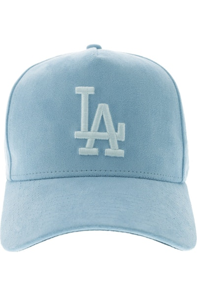 New Era Dodgers 940 A-Frame Suede Snapback Blue