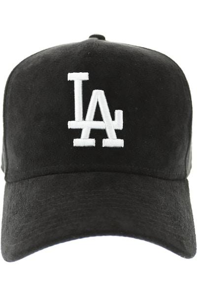 New Era Dodgers 940 A-Frame Suede Snapback Black