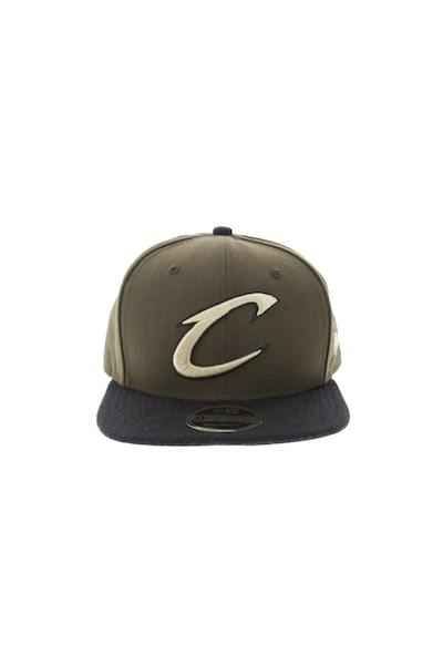 New Era Cleveland Cavaliers 950 Original Fit Melton Snapback Brown