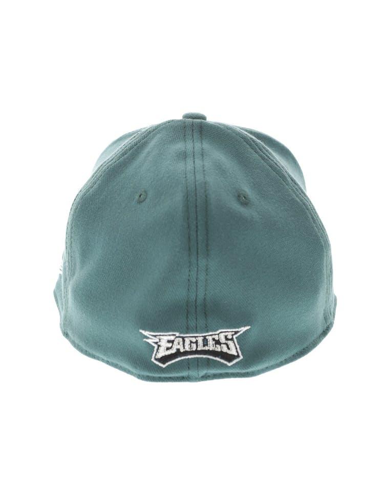 brand new d24de 75ebd New Era Philadelphia Eagles Logo 3930 Fitted Green