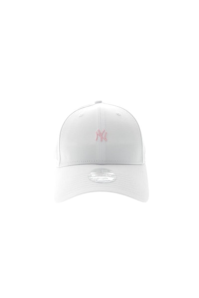 New Era Ladies New York Yankees Mini Logo 940 White/Pink